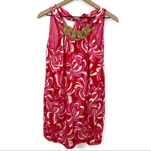 Lilly Pulitzer Punch Pink Giselle Silk Dress